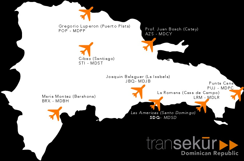 map-of-dominican-republic-international-airports